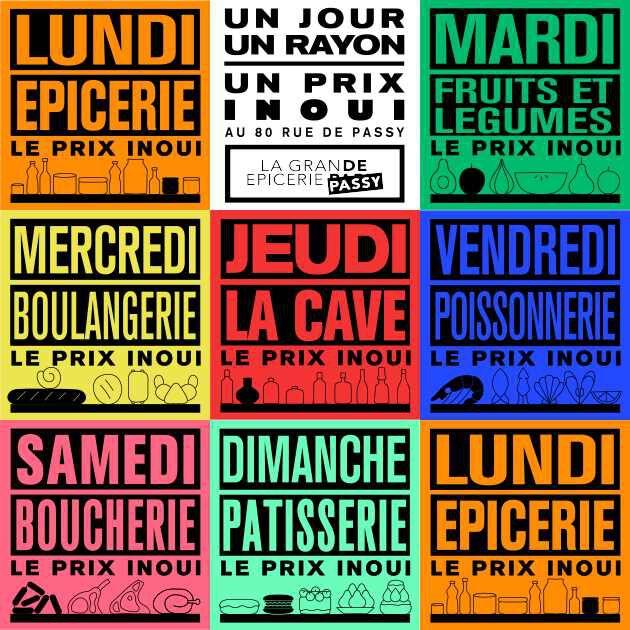 Semainier La Grande Epicerie de Paris - Rive Droite