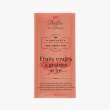 Dark chocolate - Red fruit & linseed Dolfin