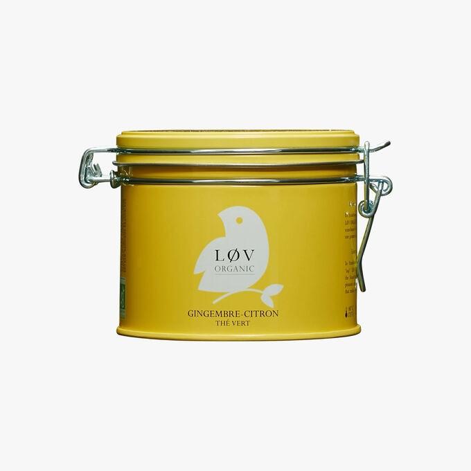 Thé vert gingembre citron boîte métal Lov Organic