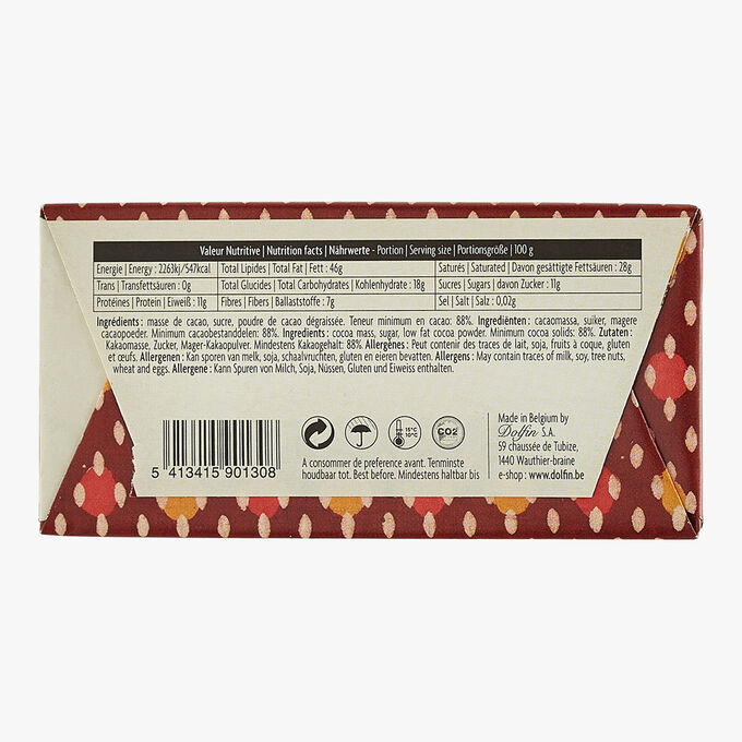 Dark chocolate 88% cocoa Dolfin