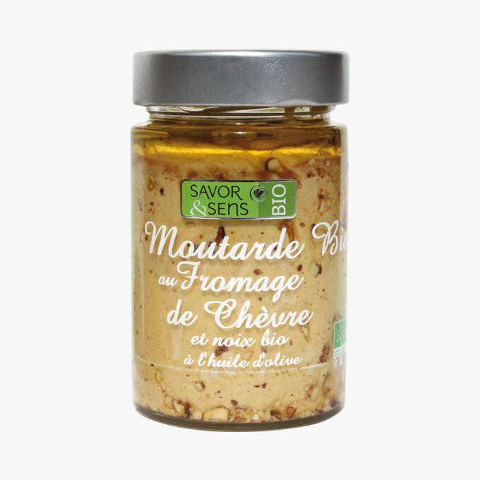 Préparation alimentaire bio à base de moutarde au fromage de chèvre et noix bio à l'huile d'olive Savor & Sens