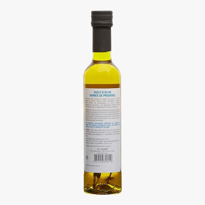Huile d'olive vierge extra et extrait naturel d'herbes de Provence A l'Olivier