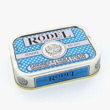 Sardines à l'huile d'olive, arômatisées aux achards et à la truffe Rödel