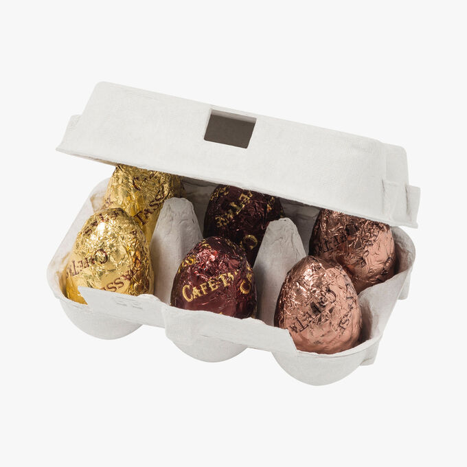 Chocolate eggs Café-Tasse