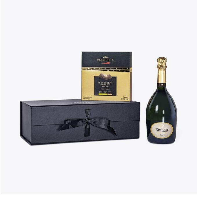 Coffret cadeau Champagne Chocolat null