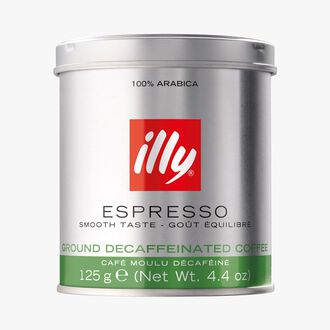 Decaffeinated ground coffee Illy