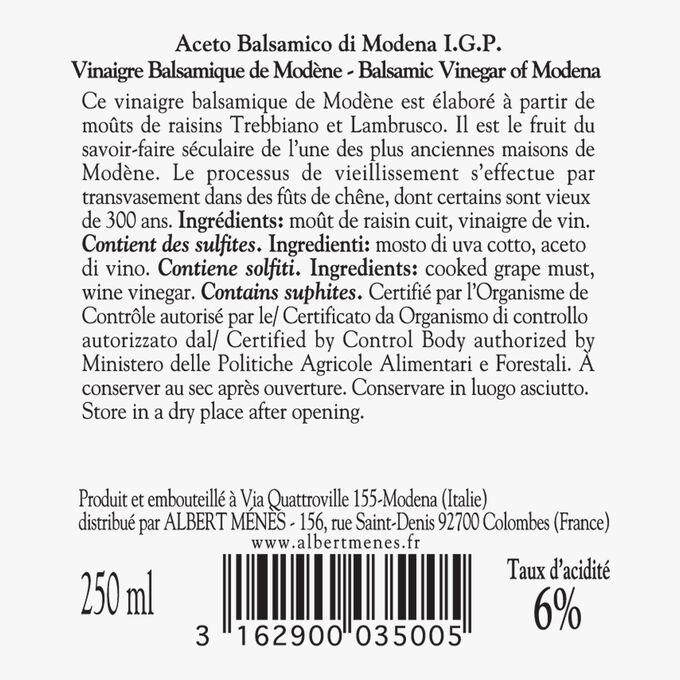 Vinaigre balsamique de Modène Giusti Albert Ménès