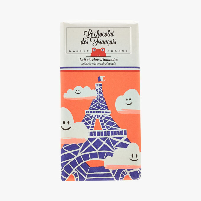 Lait et éclats d'amandes - Illustration Axelle Doppelt Le Chocolat des Français