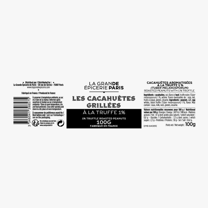 Cacahuètes aromatisées à la truffe 1% (Tuber melanosporum) La Grande Épicerie de Paris