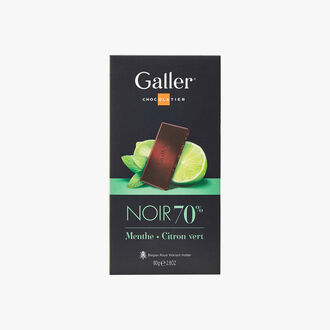 Dark chocolate 70% mint and lime Galler