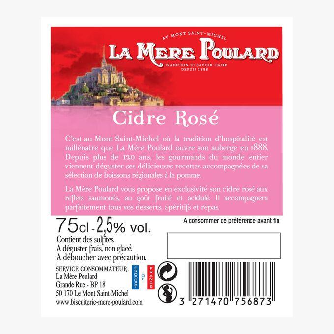 Rosé cider La mère Poulard