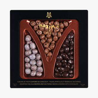 Coffret assortiment de fruits enrobés de chocolat Maxim's