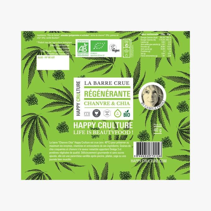 Raw hemp and chia bar Happy Crulture