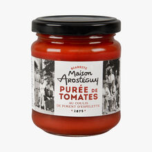 Tomato purée with pepper coulis  Maison Arosteguy