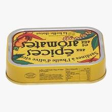 Sardines à l'huile d'olive vierge, aux épices et aux aromates Conserverie la Belle-Iloise