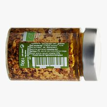 Organic mustard with organic toasted hazelnuts in olive oil Savor & Sens