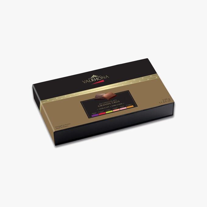 Coffret Collection Grands Crus, 66 carrés de chocolat Valrhona