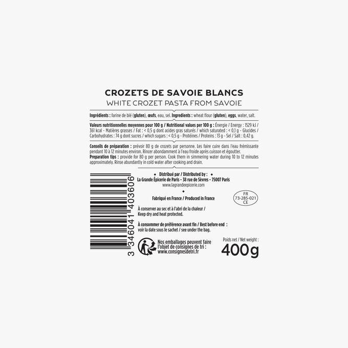 Savoy white crozets La Grande Épicerie de Paris