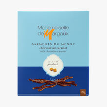 Milk chocolate twigs flavoured with caramel Mademoiselle de Margaux