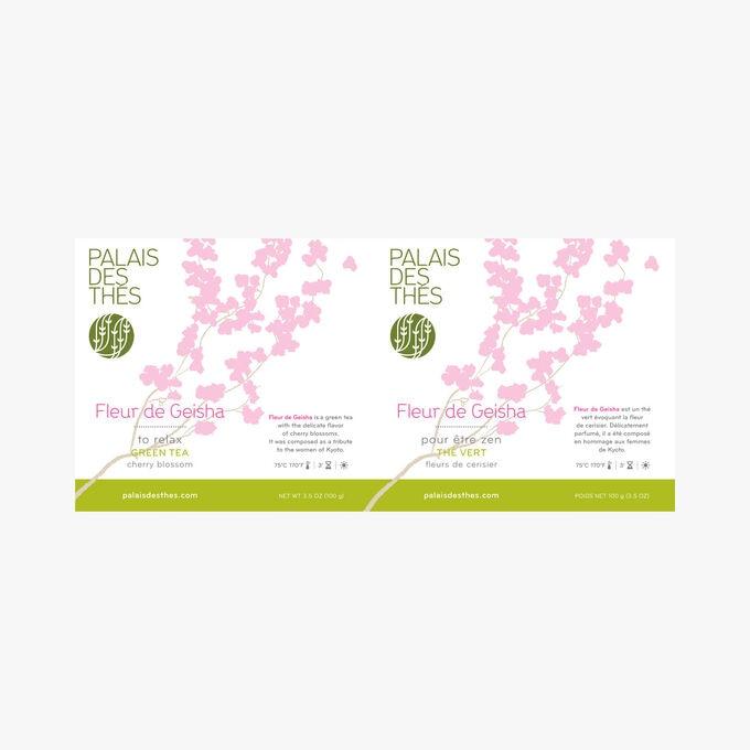 Fleur de Geisha, green tea, cherry blossom Palais des Thés
