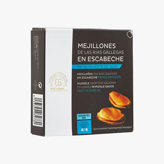 Rias Galiciennes Mussels, marinaded and cook in olive oil 4-6 pieces Club del Gourmet