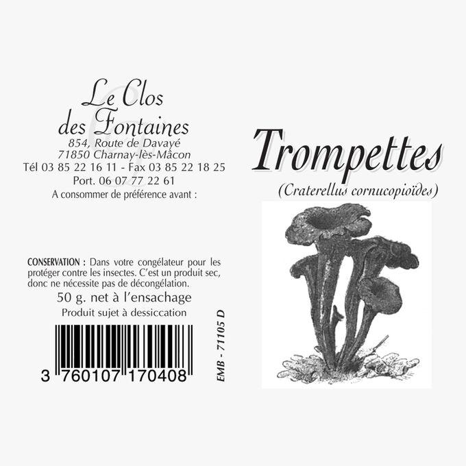 Black trumpet mushrooms Le Clos des Fontaines