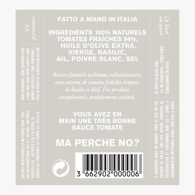 La Checca, fresh tomato and basil sauce Al dente la salsa