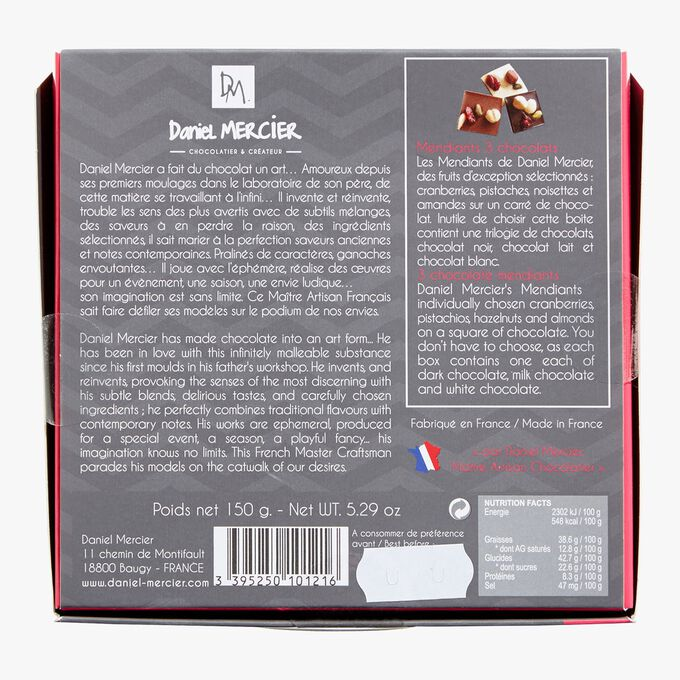Chocolate mendiant assortment Daniel Mercier