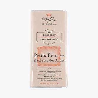Chocolat au lait aux Petits Beurres & sel rose des Andes Dolfin