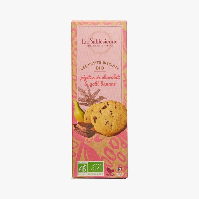 Little organic chocolate chip biscuits& banana taste La Sablésienne