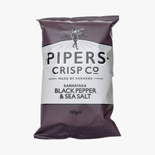 Black pepper crisps Pipers Crisp Co