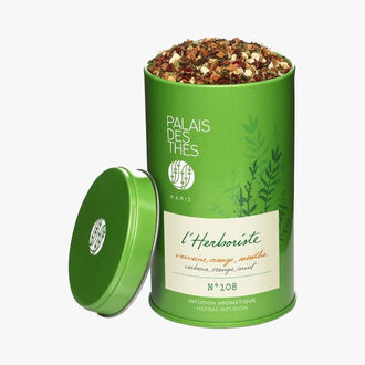 Verbena, Orange, Mint – l'Herboriste N°109, 20 muslin teabags Palais des Thés