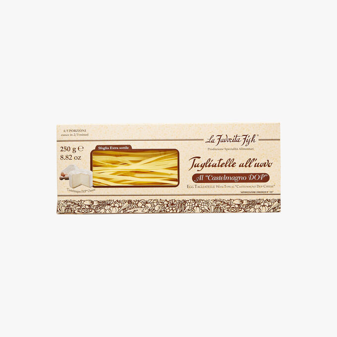 Egg tagliatelle with Castelmagno cheese PDO La Favorita