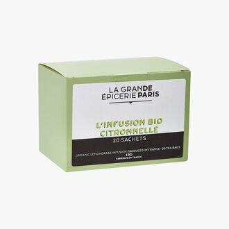 Organic citronella herbal infusion 20 sachets La Grande Épicerie de Paris