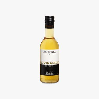 White wine vinegar made with wine from the Champagne-Ardenne region and aged for 1 year in oak barrels, 7% acidity La Grande Épicerie de Paris