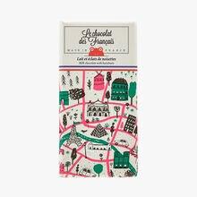 Milk and hazelnut pieces – Illustration by Jordan Sondler Le Chocolat des Français