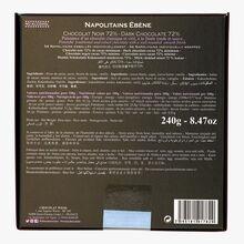 Ébène 72 % - 54 Napolitains au chocolat noir Weiss