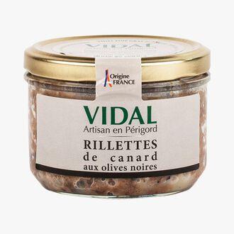 Rillettes de canard aux olives noires Vidal