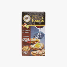 Biscuits toasts aux dattes et raisins Biscuiterie de Provence