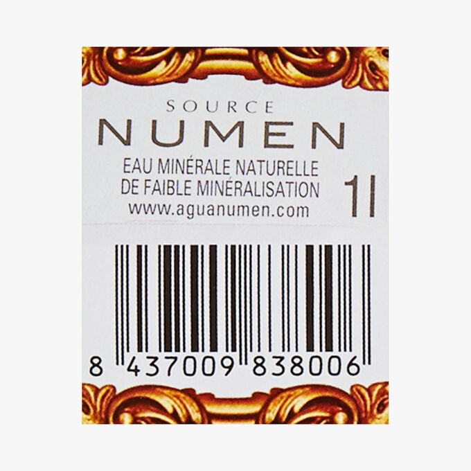 Numen natural mineral water Numen