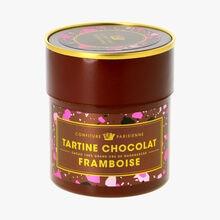 Tartine chocolat, framboise Confiture Parisienne