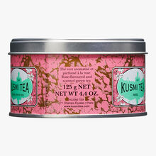 Rose Green Tea, metal tin Kusmi Tea