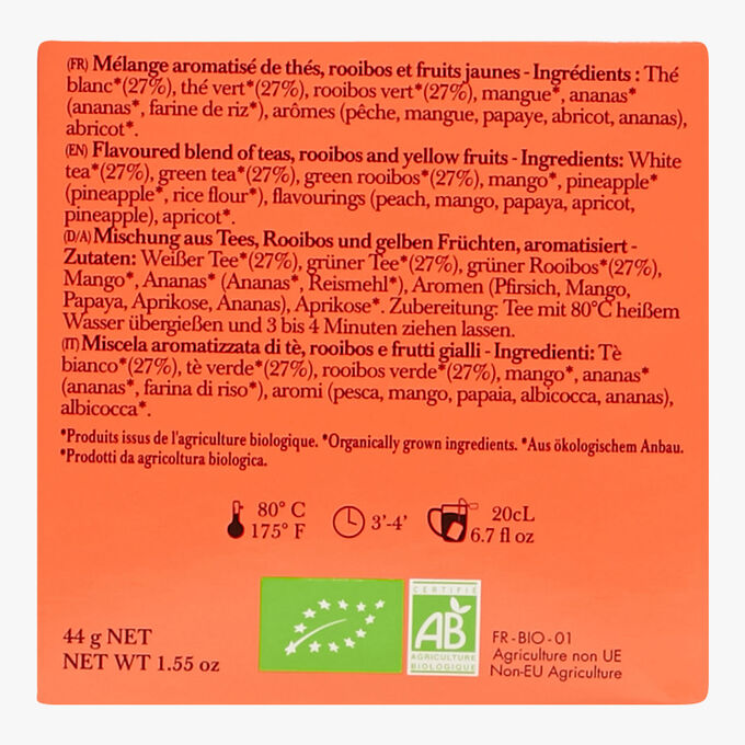 Lov is Beautiful, tin of 20 sachets Lov Organic