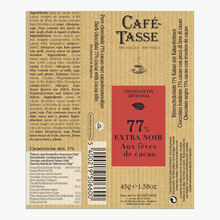 Extra dark chocolate sticks, 77% with cocoa beans Café-Tasse