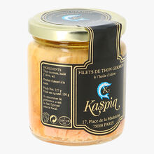 Filets de thon germon à l'huile d'olive Kaspia