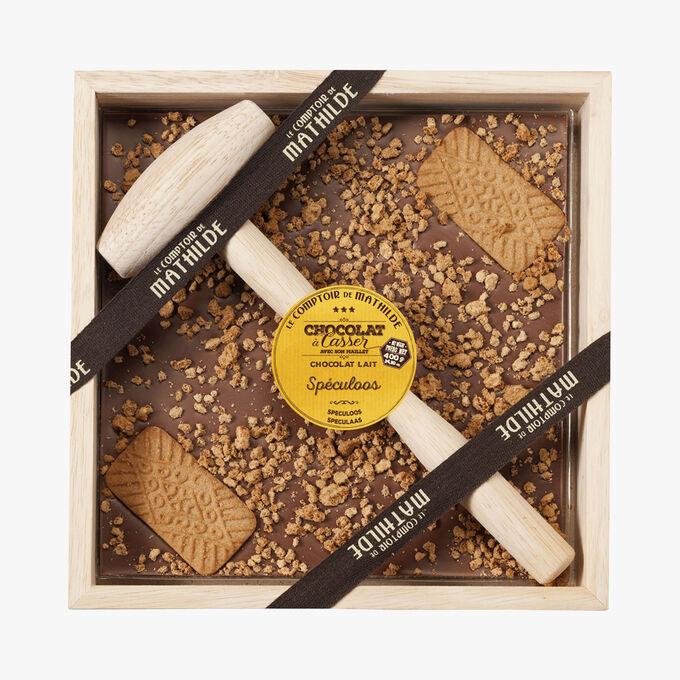Milk chocolate to break with speculoos Le Comptoir de Mathilde