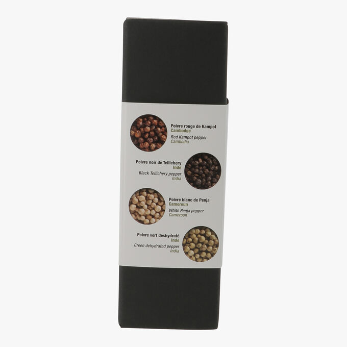 Gift box, the 4 colours of pepper N°1  Terre Exotique