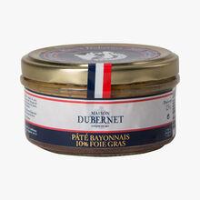 Bayonne-style pâté, 10% foie gras Maison Dubernet