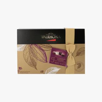 Ballotin de 50 chocolats assortis Valrhona
