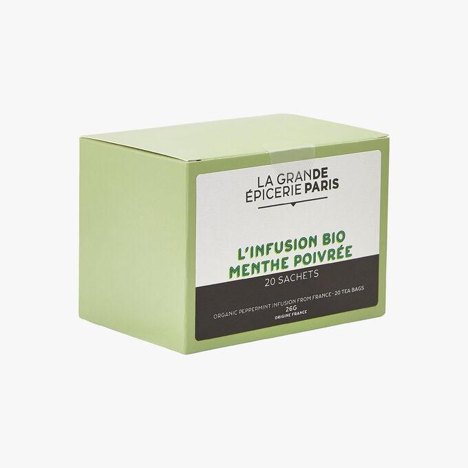 Organic peppermint herbal infusion 20 sachets La Grande Épicerie de Paris